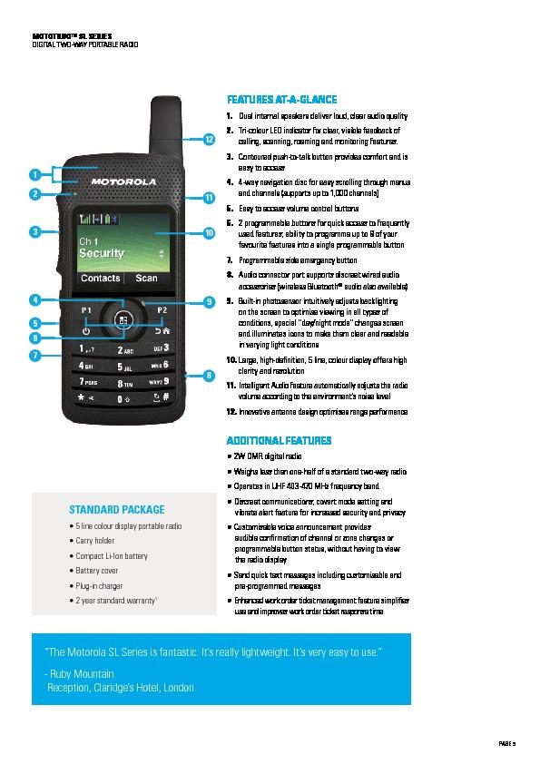 Motorola sl4000 manual user