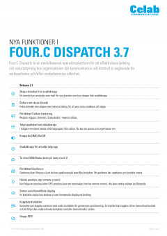 Four:C Dispatch Release Notes 3.7 SV preview 1