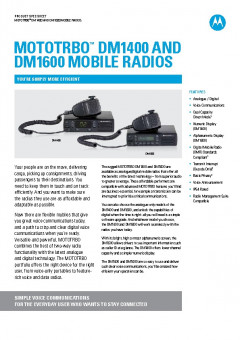Motorola DM1000 specifications preview 1