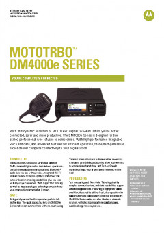 Motorola DM4000e series specifications preview 1