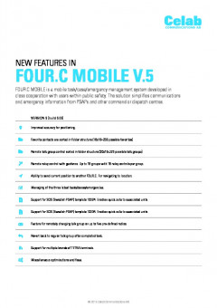 Four:C Mobile v5 release notes preview