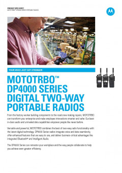 Motorola DP4000 series specifications preview 1
