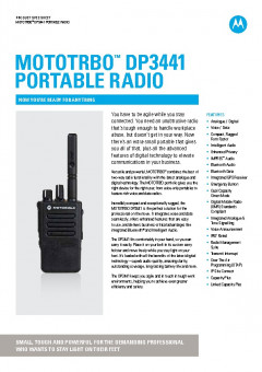 Motorola DP3441 specifications preview 1