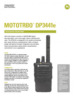 Motorola DP3441e specifications preview 1
