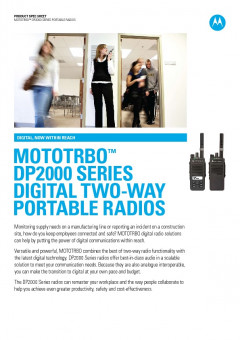 Motorola DP2000 series specifications preview 1