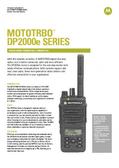 Motorola DP2000e Series specifications preview 1