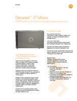 Motorola Dimetra IP Micro specifications preview 1
