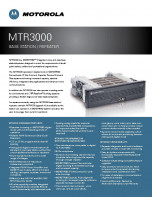 Motorola MTR3000 specifications preview 1