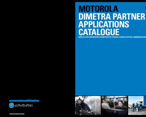 Motorola Dimetra Applications Catalogue preview 1