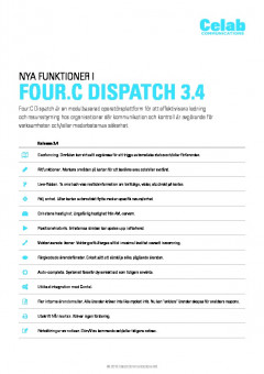 Four:C Dispatch 3.4 release notes preview 1