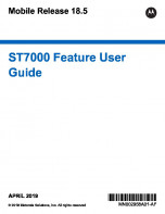 Motorola ST7000 Feature User Guide (MR18.5) preview 1