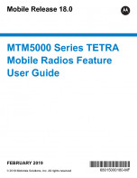 Motorola MTM5400 Feature User Guide preview 1