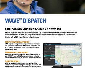 Motorola WAVE Dispatch datasheet preview 1