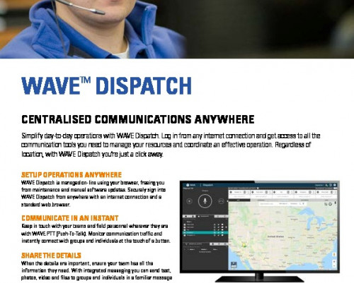 Motorola WAVE PTX™ Dispatch datasheet preview 1