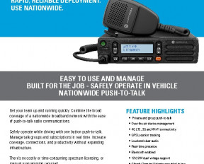 Motorola TLK150 WAVE radio datasheet preview 1