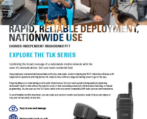 Motorola TLK series brochure preview 1
